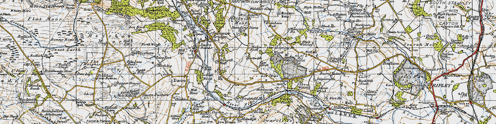 Old map of Wilson's Plantn in 1947