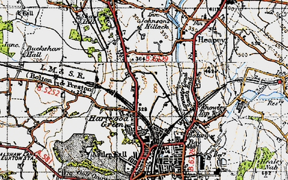 Old map of Astley Hall in 1947