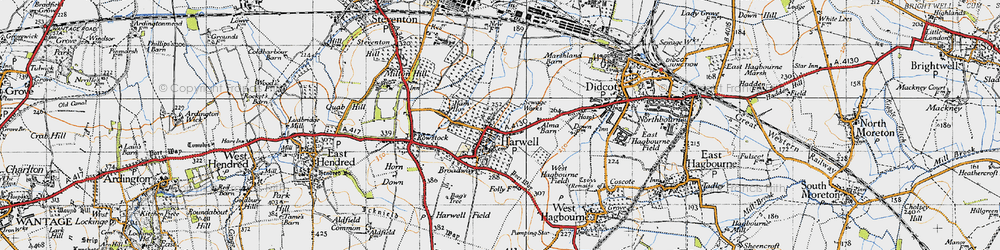 Old map of Harwell in 1947
