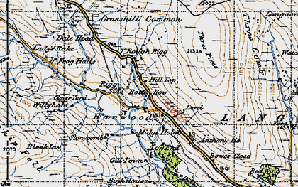 Old map of Langdon Common in 1947