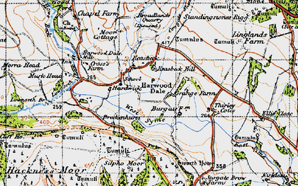 Old map of West Syme in 1947