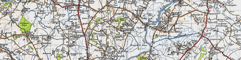 Old map of Tirley Court in 1947