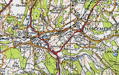 Old map of Haslemere in 1940