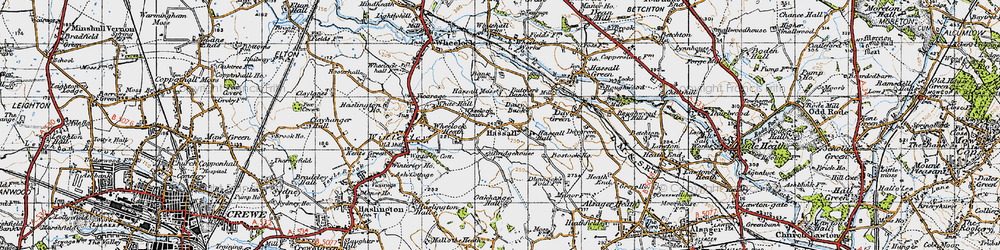 Old map of Hassall in 1947