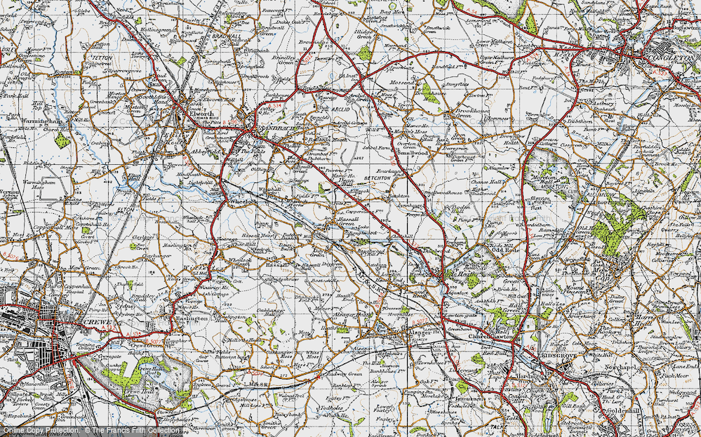Old Map of Hassall Green, 1947 in 1947