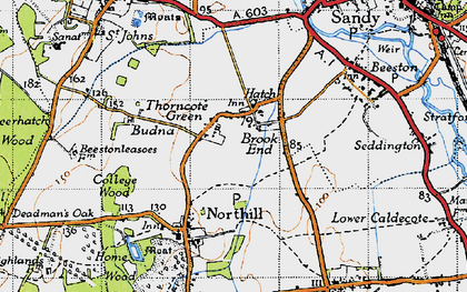 Old map of Hatch in 1946