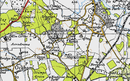 Old map of Hatchford in 1940