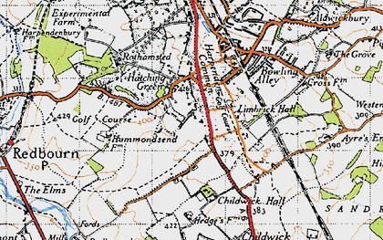 Old map of Limbrick Hall in 1946