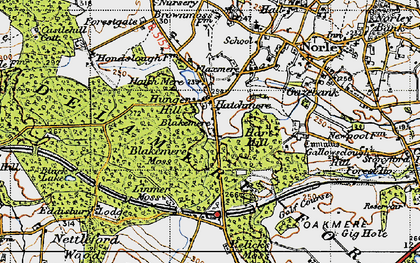 Old map of Hatchmere in 1947