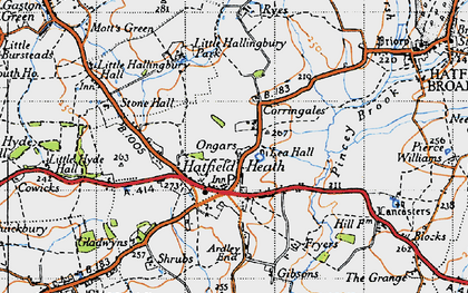 Old map of Lea Hall in 1946