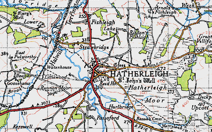 Old map of Hatherleigh in 1946