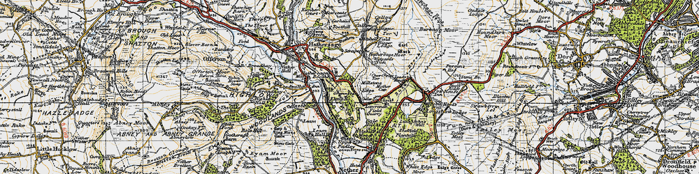 Old map of Winyards Nick in 1947