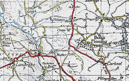 Old map of Hatt in 1946