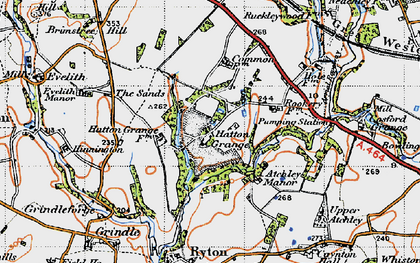 Old map of Atchley Ho in 1946
