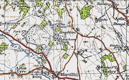 Old map of Aldenham Park in 1947