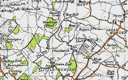 Old map of Haultwick in 1946