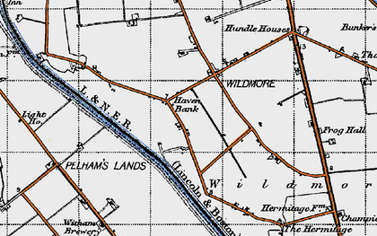 Old map of Witham Brewery in 1946
