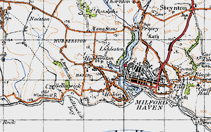 Old map of Havens Head in 1946