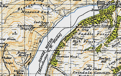 Old map of Bampton Common in 1947