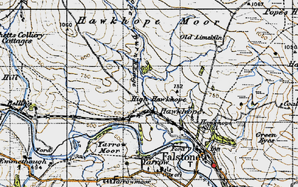 Old map of Wind Hill in 1947
