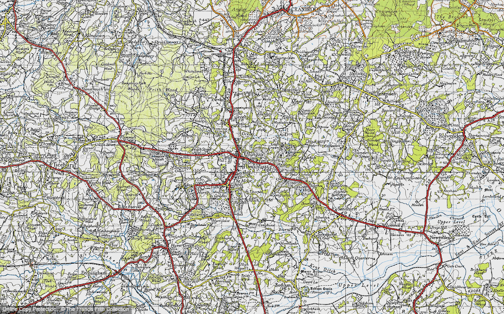 Old Map of Hawkhurst, 1940 in 1940