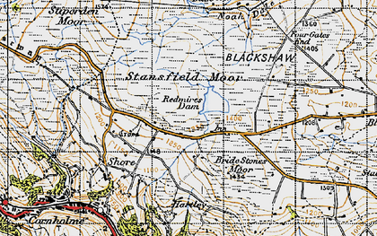 Old map of Four Gates End in 1947