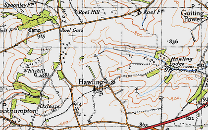 Old map of Windrush Hill in 1946