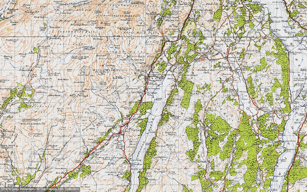 Old Map of Historic Map covering Thurston in 1947