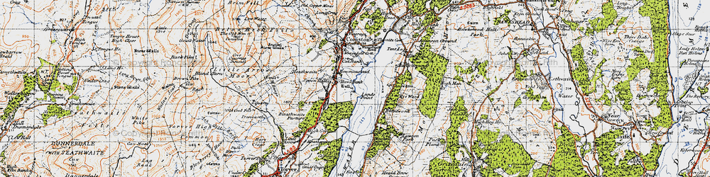 Old map of Thurston in 1947