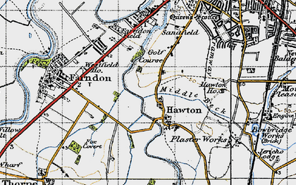 Old map of Hawton in 1946
