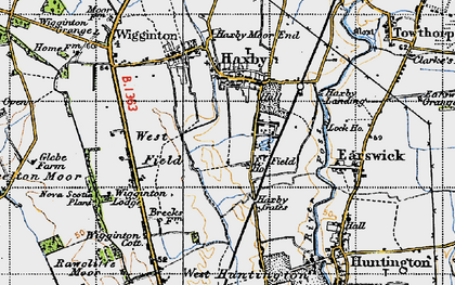 Old map of Wigginton Lodge in 1947