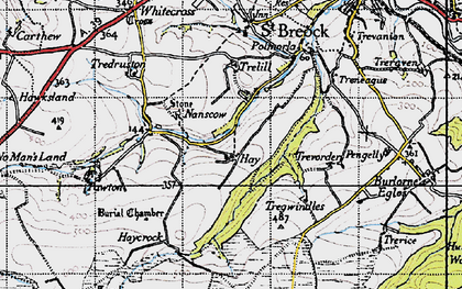 Old map of Hay in 1946