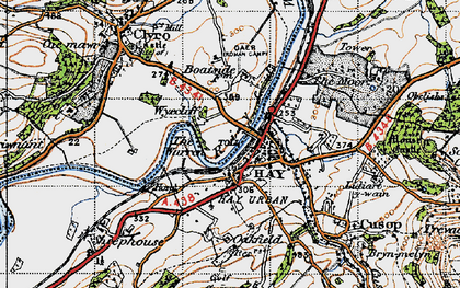 Old map of Wyecliff in 1947