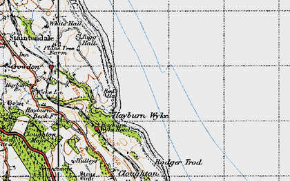 Old map of Hayburn Wyke in 1947