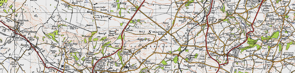 Old map of Whitnell Corner in 1946