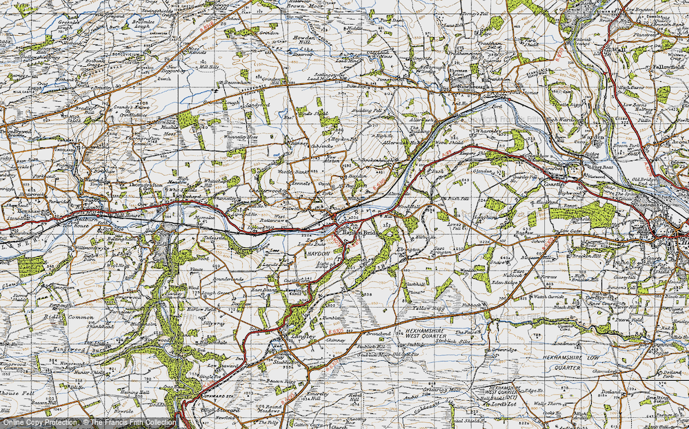 Old Map of Historic Map covering Alton Side in 1947