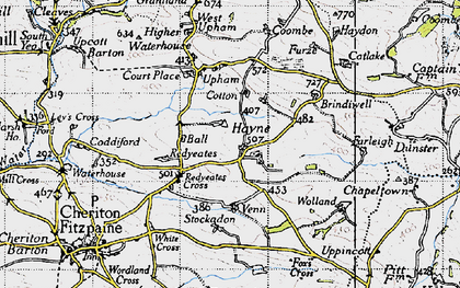 Old map of Stockadon in 1946