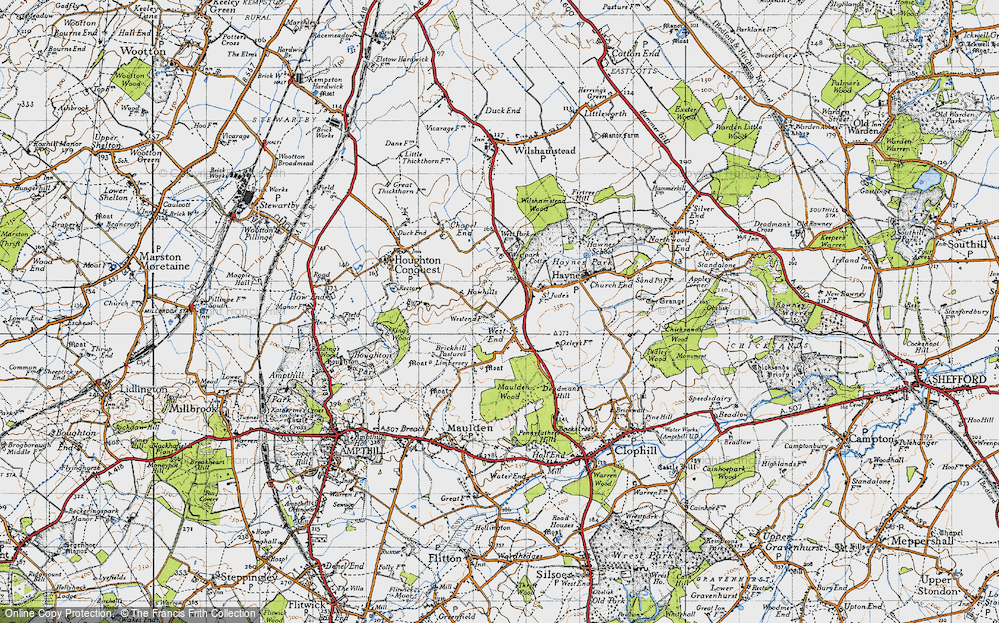 Old Map of Historic Map covering Lark Hill in 1946