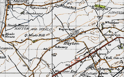 Old map of Hayton in 1947