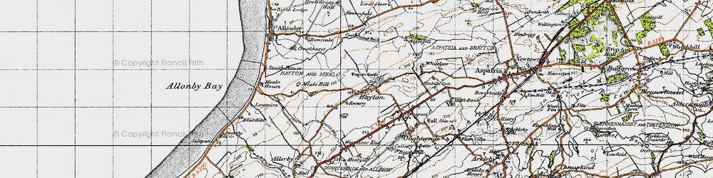 Old map of Aiglehill in 1947