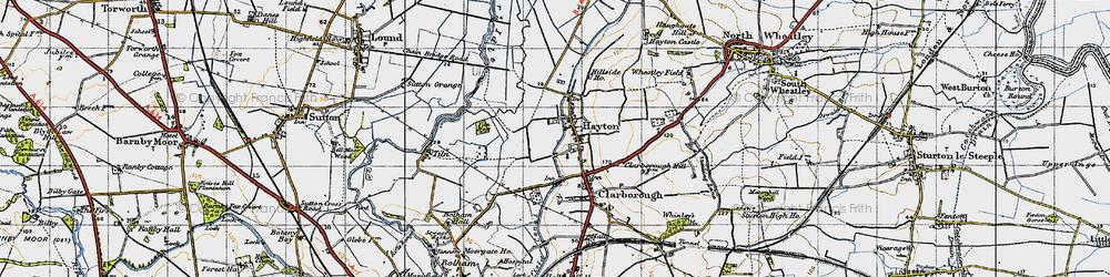 Old map of Tiln Holt in 1947