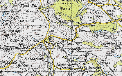 Old map of Yarner in 1946