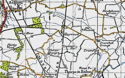 Old map of Wrancarr Ho in 1947