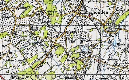 Old map of Lewes Heath in 1940