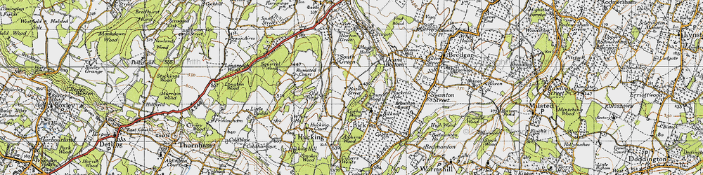 Old map of Admiral Wood in 1946