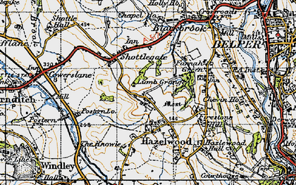 Old map of Windley Meadows in 1946