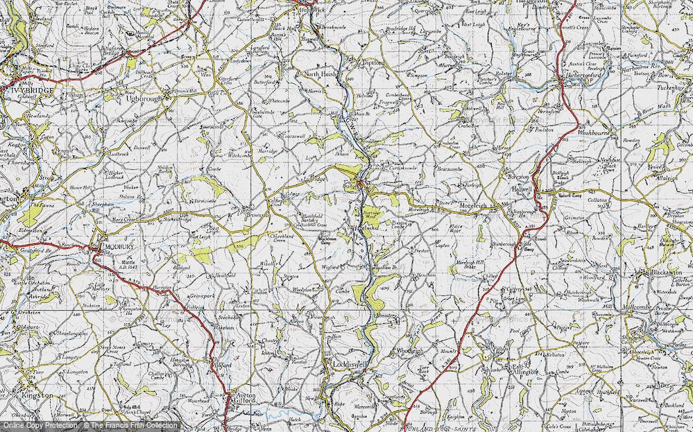 Old Map of Historic Map covering Gara Bridge in 1946