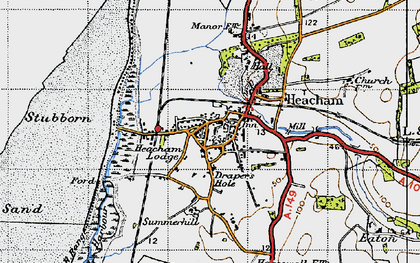 Old map of Heacham in 1946
