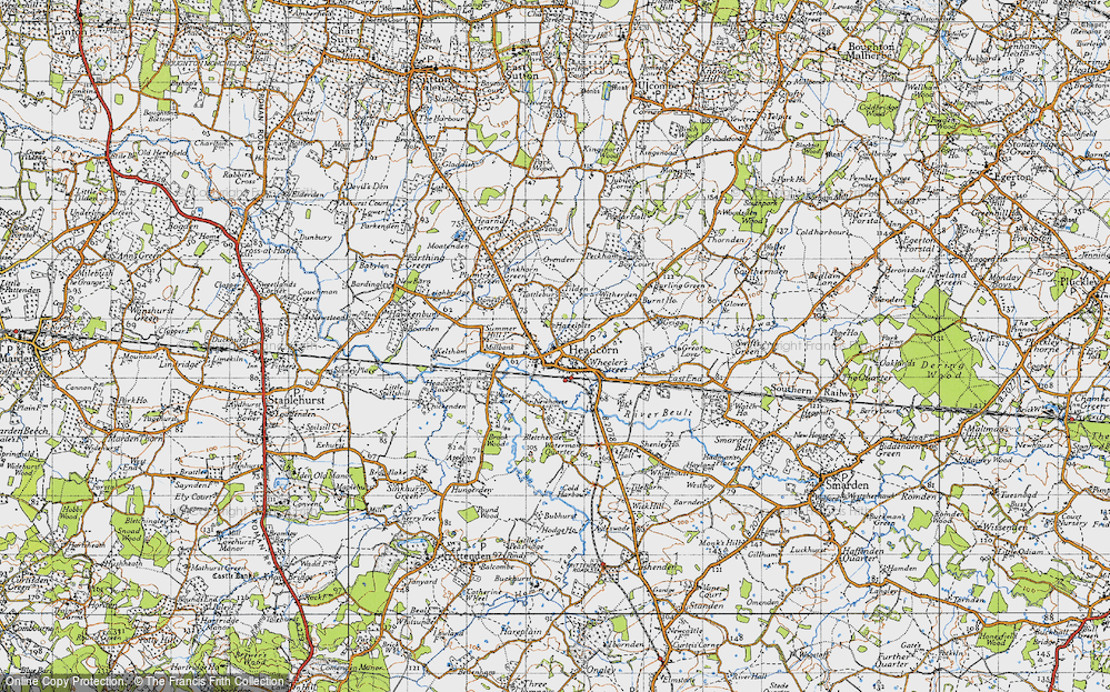 Old Map of Historic Map covering Tilden in 1940