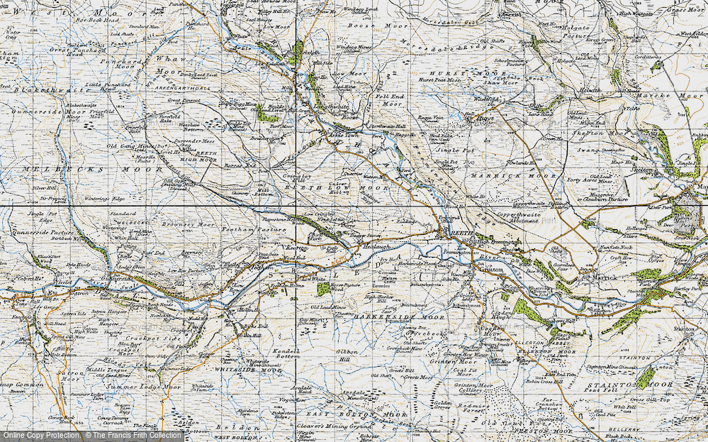 Old Map of Healaugh, 1947 in 1947
